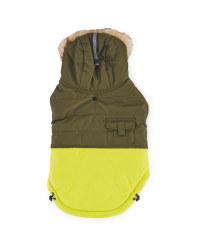 Khaki Smaller Dog Bomber Coat