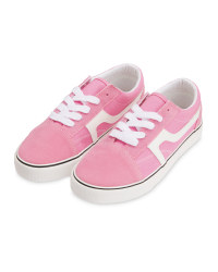 Kid's Pink Canvas Trainers