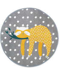 Kids' Sloth Rounded Rug