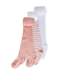Kids' Pink Winter Tights 3 Pack