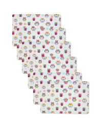 Owl Print Placemats 6 Pack