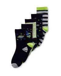 Kids' Space Socks 5 Pack