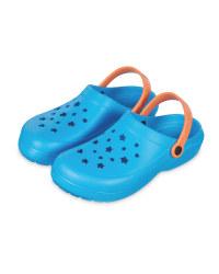 Kids' Blue & Orange Summer Clogs