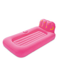 Kids' Air Bed With Night Light - Pink
