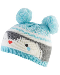 Baby Knitted Penguin Pom Pom Hat