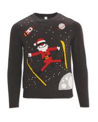 Kids Christmas Jumper Ski Santa