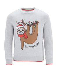 Kid's Sloth Christmas Sweatshirt