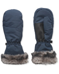 Crane Junior Faux Fur Mitts