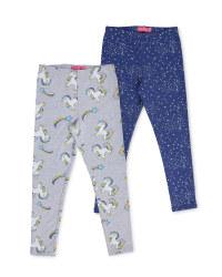Children's Unicorn Leggings 2 Pack