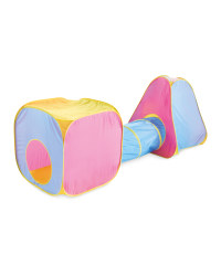 Kids' Play Tent - Pink/Blue/Yellow