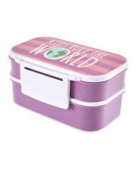 Kids Rule Clip And Close Bento Box
