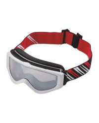 Crane Kids Ski & Snowboard Goggles - Grey/Red/White