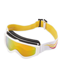Crane Kids Ski & Snowboard Goggles - Red/Gold/Yellow