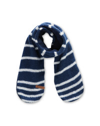Kids Small Blue/White Scarf