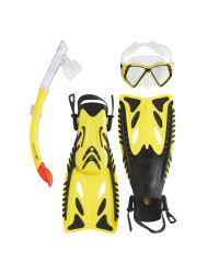 Snorkel & Diving Set Small - Yellow
