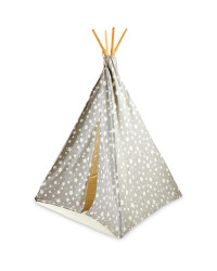 Kids Grey/White Star Teepee