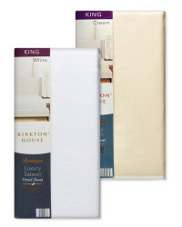 King 400TC Sateen Fitted Sheet