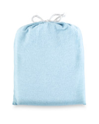 King Brushed Cotton Fitted Sheet - Blue