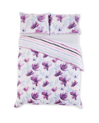 King Pink Floral Duvet Set