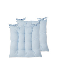 Kirkton House 2 Pack Seat Pads - Blue