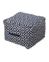 Kirkton House Aztec Navy Bean Cube