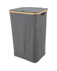 Kirkton House Bamboo Laundry Basket - Dark Grey