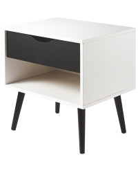 Kirkton House Black Bedside Table