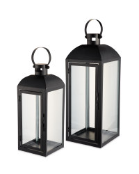 Kirkton House Black Lantern 2 Pack