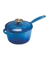 Kirkton House Cast Iron Saucepan - Blue