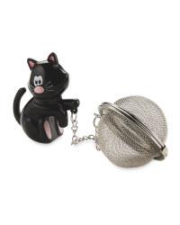 Kirkton House Cat Tea Infuser - Black