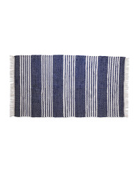 Kirkton House Chindi Rug Blue Stripe