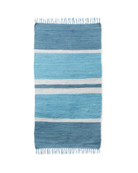Kirkton House Chindi Rug - Blue