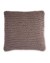 Kirkton House Chunky Knit Cushion - Dark Grey