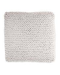 Kirkton House Chunky Knit Cushion - Light Grey