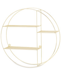 Kirkton House Circular Wire Shelf - Gold