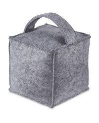 Kirkton House Cube Doorstop - Light Grey
