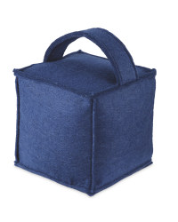 Kirkton House Cube Doorstop - Blue
