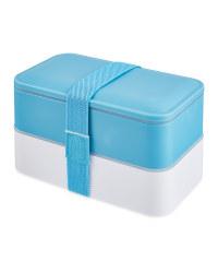 Kirkton House Double Bento Lunchbox - Blue