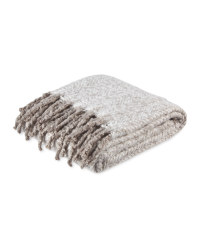 Kirkton House Faux Mohair Throw - Grey
