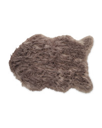 Kirkton House Faux Sheepskin Rug - Dark Grey