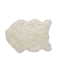 Kirkton House Faux Sheepskin Rug - White