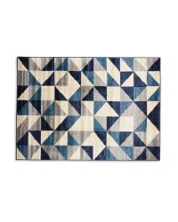 Kirkton House Geometric Navy Rug