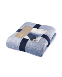 Kirkton House Graduated Throw - Navy