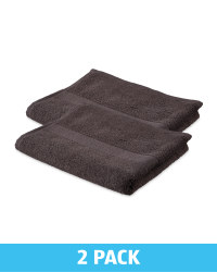 Kirkton House Hand Towels 2 Pack - Charcoal