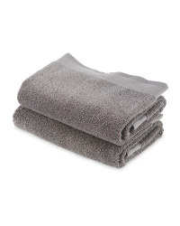 Kirkton House Hand Towels 2-Pack - Charcoal
