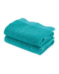 Kirkton House Hand Towels 2-Pack - Jade