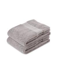 Kirkton Luxury 2 Pack Hand Towel - Light Grey