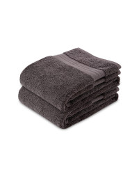Kirkton Luxury 2 Pack Hand Towel - Slate Grey