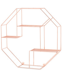 Kirkton House Hexagon Wire Shelf - Copper
