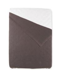 Kirkton House King Knitted Bedspread - Dark Grey